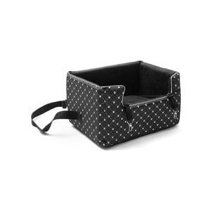 Čierna prepravná taška pre psa do auta Marendog Paws, 40 × 47 × 25 cm