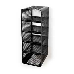 Čierna nástenná 5-poschodová srkinka na topánky Tica copenhagen Perforate