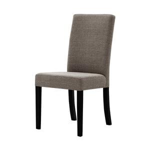 Gaštanovohnedá stolička s čiernymi nohami Ted Lapidus Maison Tonka