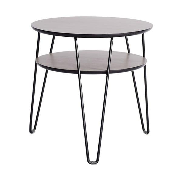 Konferenčný stolík Leon 50 cm, čierne nohy