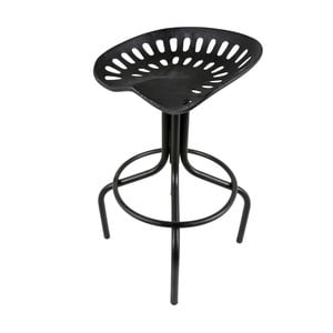 Čierna barová stolička Canett Bronz