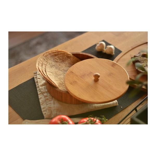 Bambusová úložná dóza na tortilly Bambum Pekit, 20 x 20 cm