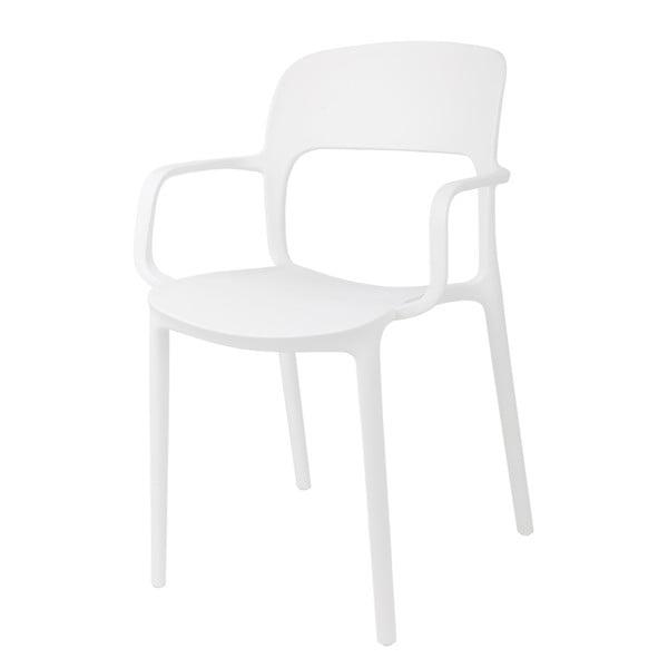 Sada 2 stoličiek D2 Flexi, s opierkami, biele