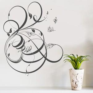Dekoratívna samolepka na stenu Floral Motive