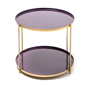 Fialový odkladací stolík 360 Living Romy 622, Ø50cm