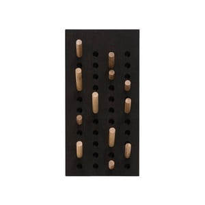 Čierny nástenný vešiak z bambusu Moso We Do Wood, 20 x 45 cm