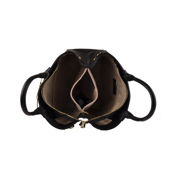Kožená kabelka Emilio Masi Bristol, čierna
