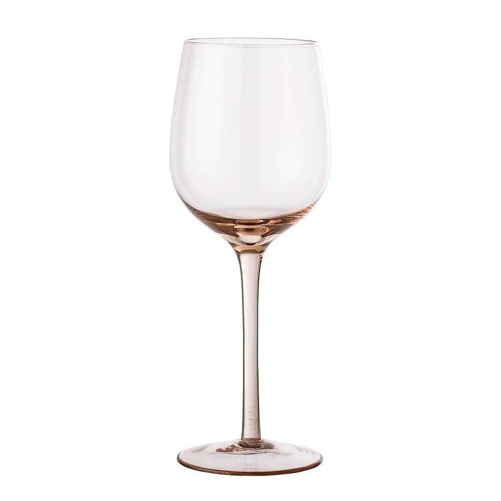 Svetloružová pohár na víno Bloomingville Wine Glass