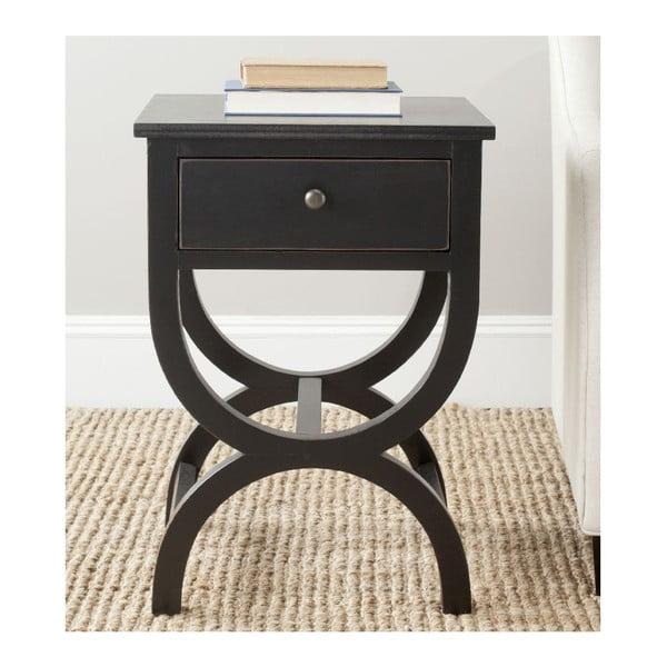 Nočný stolík Maxine, čierny