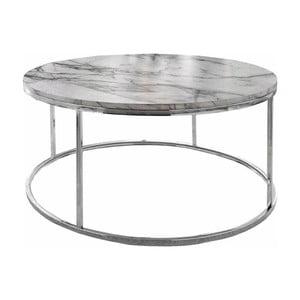 Konferenčný stolík s doskou v mramorovom dekore Støraa Megan, Ø 50 cm