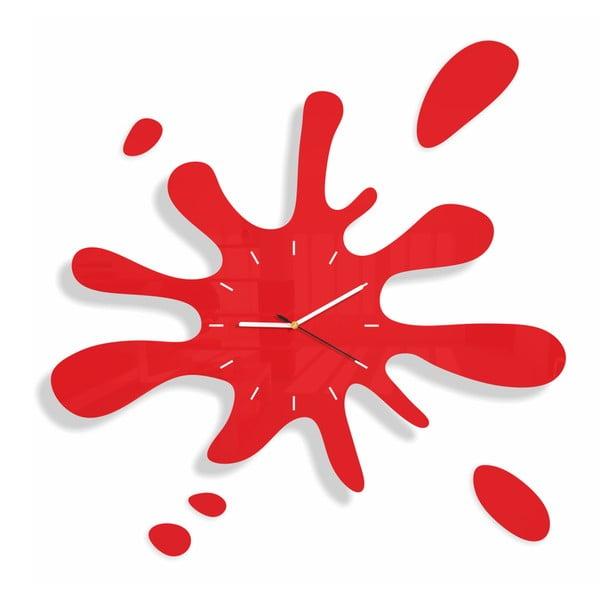Hodiny z plexiskla Splash Red