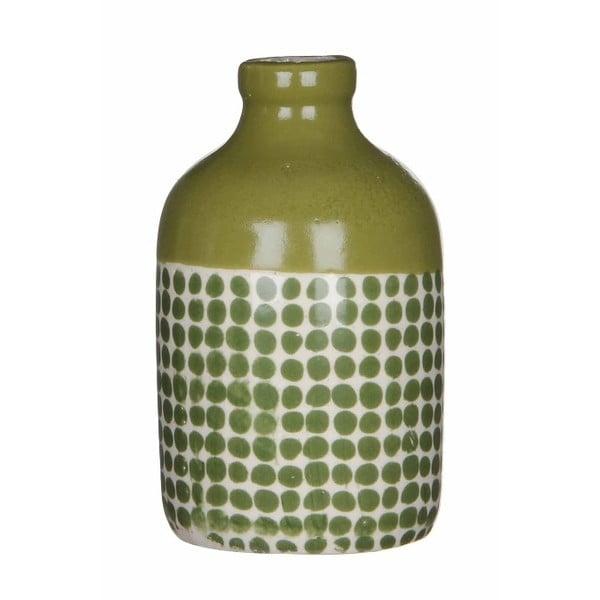 Zelená keramická váza Mica Fabio, 145x8,5 cm