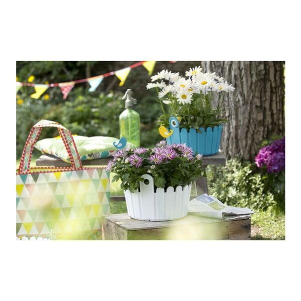 Květináč Landhaus Bowl White, 26x25x17 cm