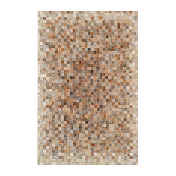 Koberec z pravej kože Sao Paulo Beige, 200x300 cm