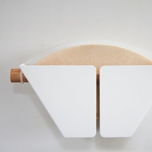 Biely magnetický držiak kávových filtrov Yamazaki Tosca