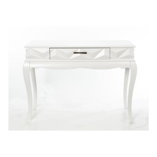 Konzolový stolík Pyramid White, 113x41x81 cm