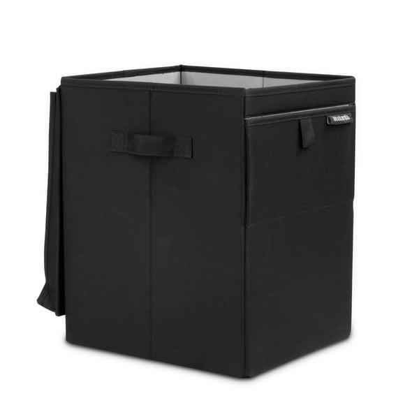 Čierny skladací box na bielizeň Brabantia Hit Black, 35l