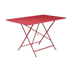 Červený skladací záhradný stolík Fermob Bistro, 117×77 cm