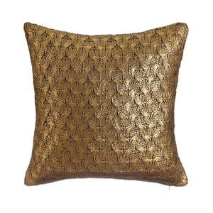 Zlato-hnedý vankúš Denzzo So Chic, 45x45cm
