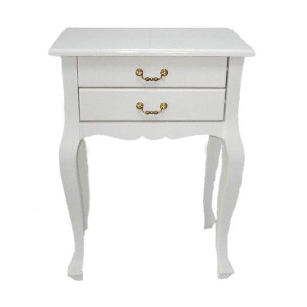 Odkladací stolík Lacquered White, 52x35x72 cm