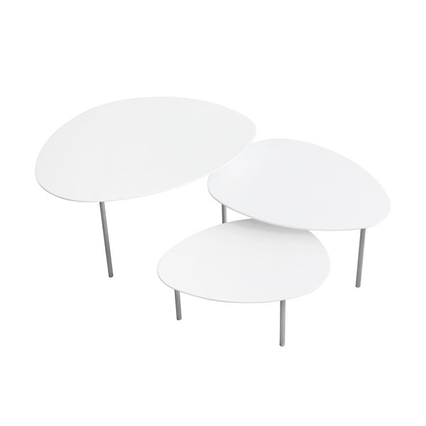 Konferenčný stolík Eclipse Large, biely