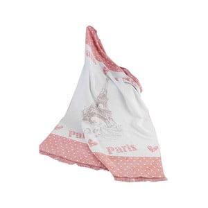 Deka s prímesou bavlny Aksu Love, 220 × 180 cm