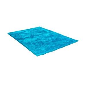 Modrý koberec s prímesou bavlny Cotex Donare, 90 × 160 cm