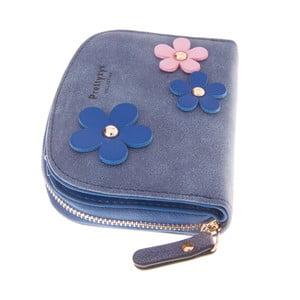 Malá peňaženka Wild Flowers, modrá