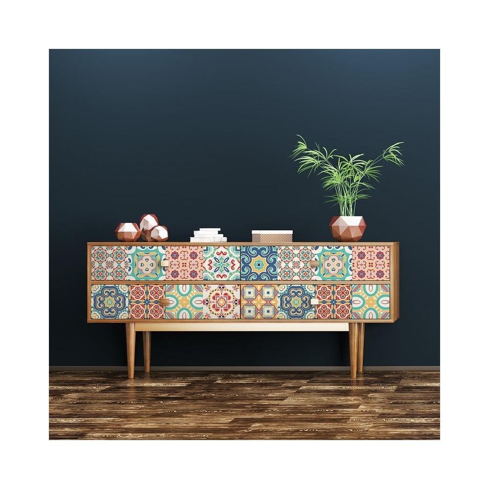 Sada 24 samolepiek na nábytok Ambiance Georgina, 20 × 20 cm