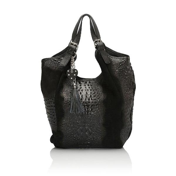 Kožená kabelka Giorgio Costa 15022 Black