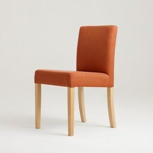 Oranžová stolička s prírodnými nohami Custom Form Wilton