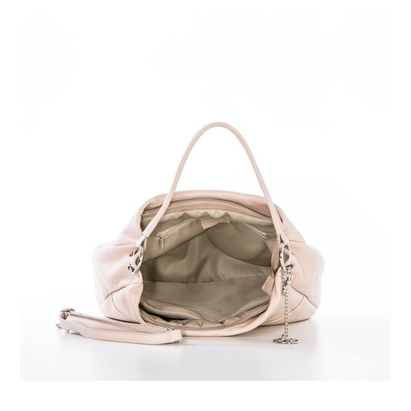 Kožená kabelka Alessandro, pudrová
