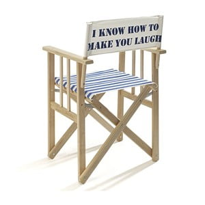 Skladacia stolička Director, modrá