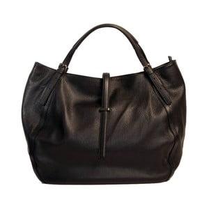 Čierna kabelka z pravej kože Andrea Cardone Luca