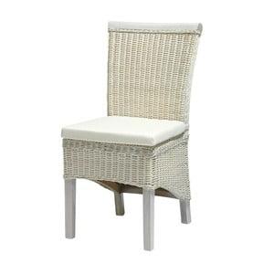 Biela stolička z bambusu Knuds Larissa