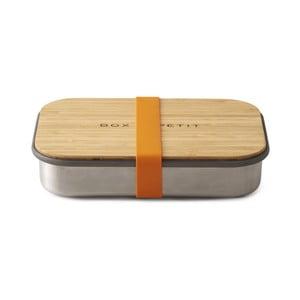 Oranžový antikoro desiatový box s bambusovým vekom Black Blum Bamboo