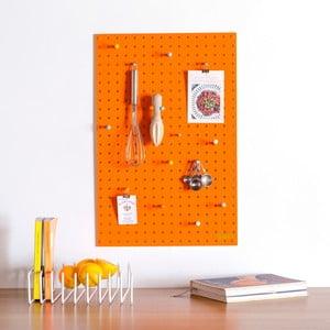 Multifunkčná nástenka Pegboard 40x61 cm, oranžová