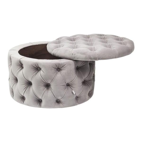 Sivý taburet Kare Design Desire