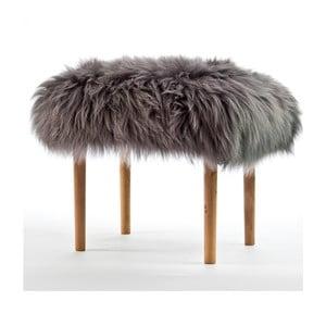 Stolička z ovčej kože Carys Slate Grey