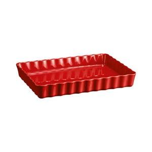Červená obdĺžniková koláčová forma Emile Henry, 24×34 cm