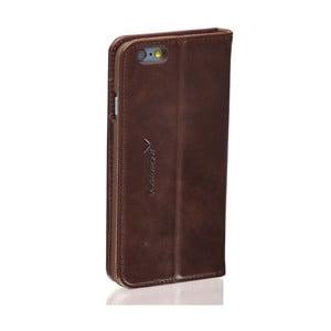 Tmavohnedý kožený obal na iPhone 5/5S Packenger