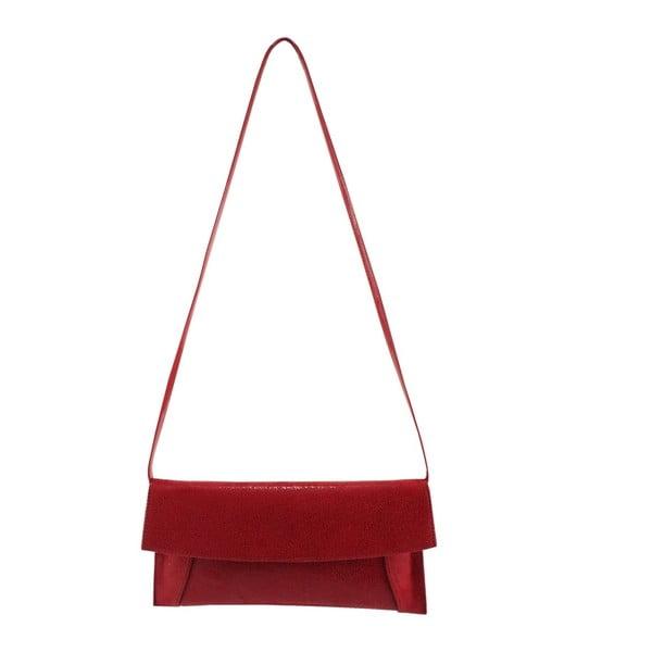 Kožená kabelka/listová kabelka Boscollo Red 2963