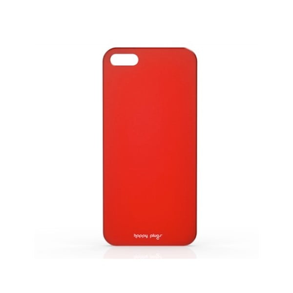 Kryt Happy Plugs na iPhone 5/5S, červený