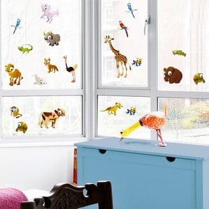 Samolepka na okno Zvieratká