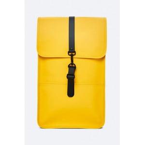 Žltý batoh s vysokou vodoodolnosťou Rains Backpack