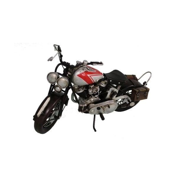 Dekoratívny objekt Antic Line Silver Motocycle