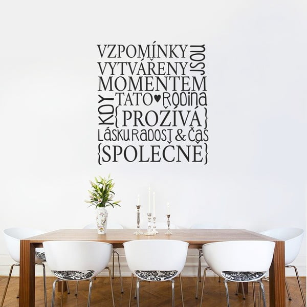 Samolepka Spomienky, 90x60 cm