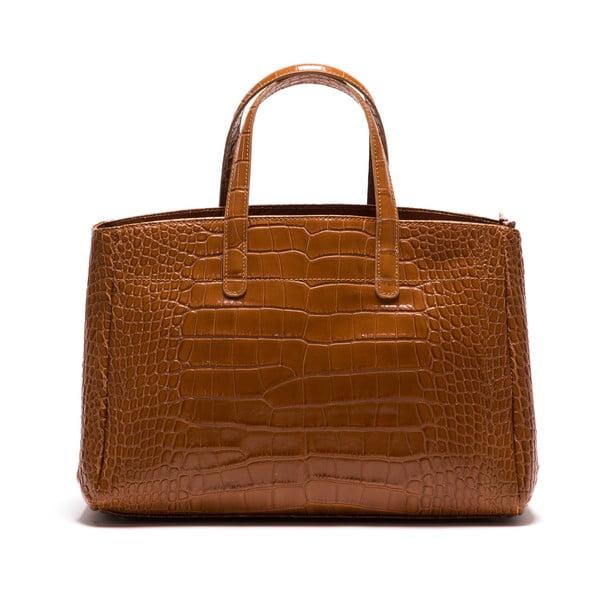Kožená kabelka Anna Luchini 634 Cognac