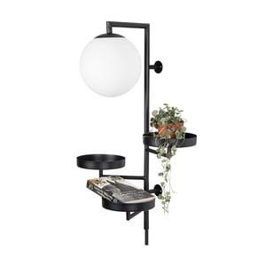 Čierne nástenné svietidlo Globen Lighting Astoria