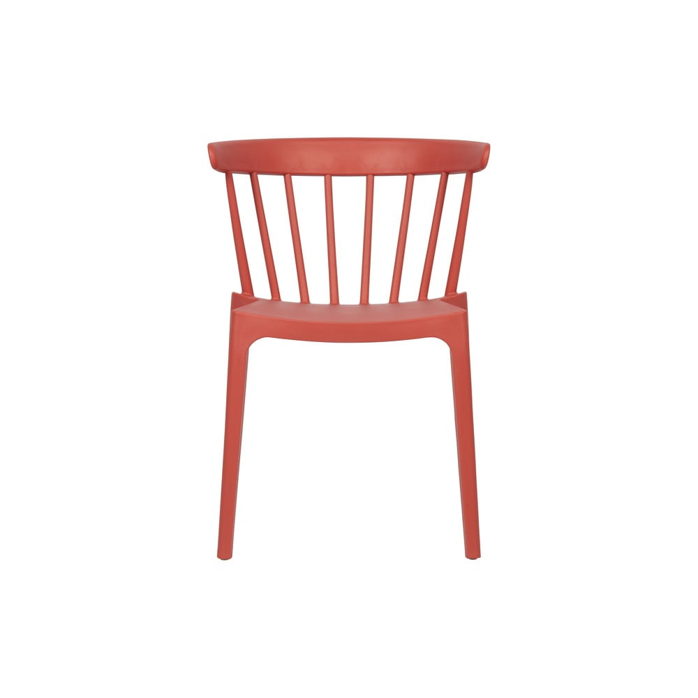 Tmavoružová plastová jedálenská stolička vhodná aj do exteriéru WOOOD Bliss